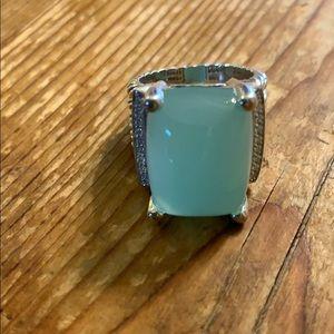 David Yurman Wheaton chalcedony & diamond ring